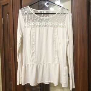 LC Lauren Conrad White Long Sleeve Shirt